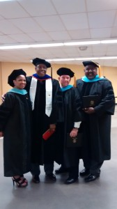 commencement-my three grad students